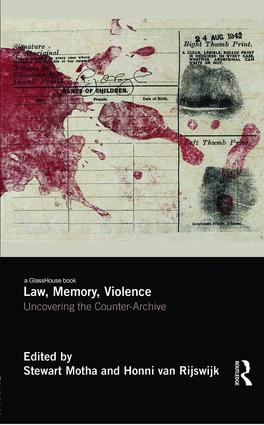 Law, Memory, Violence: Uncovering the Counter-Archive (Hardback) book cover