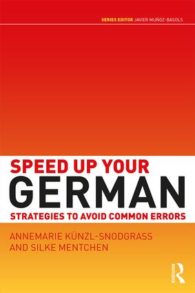 Speed Up Your German: Strategies to Avoid Common Errors (Paperback) book cover