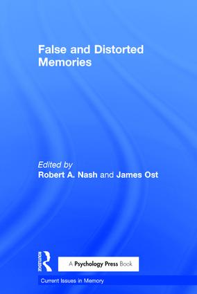 False and Distorted Memories: 1st Edition (Hardback) book cover