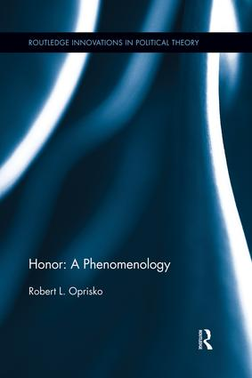 Honor: A Phenomenology book cover