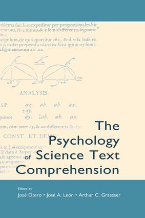 The Psychology of Science Text Comprehension: 1st Edition (Paperback) book cover