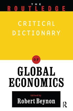 Routledge Companion to Global Economics: 1st Edition (Hardback) book cover