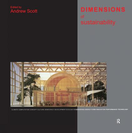 Dimensions of Sustainability: 1st Edition (Hardback) book cover