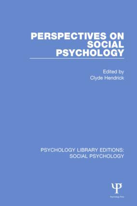 Perspectives on Social Psychology book cover