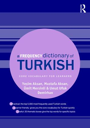 A Frequency Dictionary of Turkish book cover