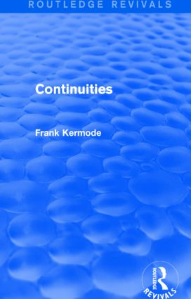 Continuities (Routledge Revivals): 1st Edition (Paperback) book cover