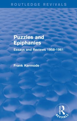 Puzzles and Epiphanies (Routledge Revivals)