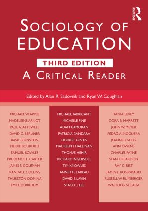 Sociology of Education: A Critical Reader, 3rd Edition (Paperback) book cover