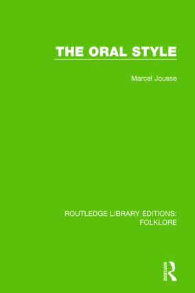 The Oral Style (RLE Folklore) book cover