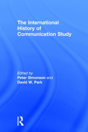The International History of Communication Study book cover