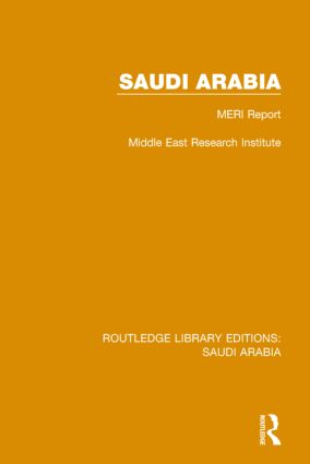 Saudi Arabia (RLE Saudi Arabia): MERI Report book cover