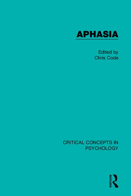 Aphasia book cover