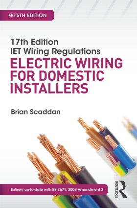 17th Edition IET Wiring Regulations: Electric Wiring for Domestic Installers, 15th ed book cover