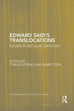 Edward Said's Translocations: Essays in Secular Criticism book cover