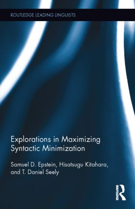 Explorations in Maximizing Syntactic Minimization: 1st Edition (Hardback) book cover