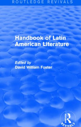 Handbook of Latin American Literature (Routledge Revivals): 1st Edition (Hardback) book cover