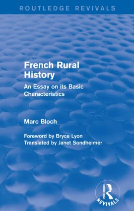 French Rural History (Routledge Revivals)