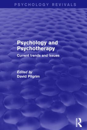 Psychology and Psychotherapy: Current Trends and Issues, 1st Edition (Paperback) book cover
