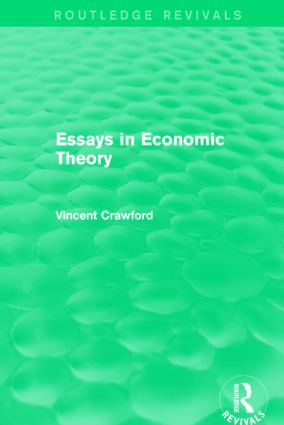 Essays in Economic Theory (Routledge Revivals): 1st Edition (Paperback) book cover