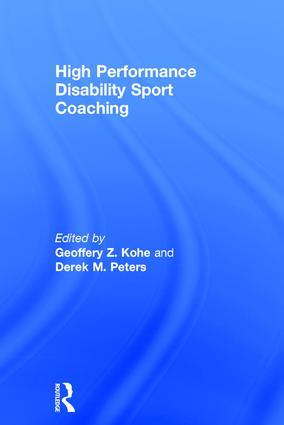 High Performance Disability Sport Coaching book cover