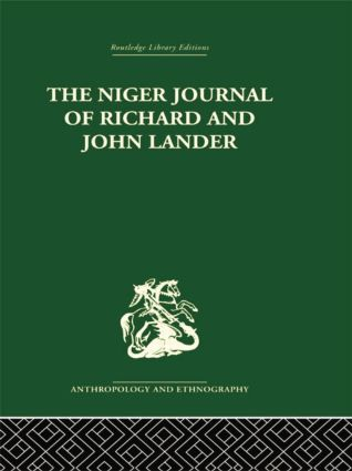 The Niger Journal of Richard and John Lander: 1st Edition (Paperback) book cover