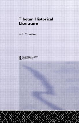 Tibetan Historical Literature: 1st Edition (Paperback) book cover