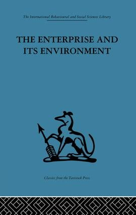 The Enterprise and its Environment: A system theory of management organization, 1st Edition (Paperback) book cover