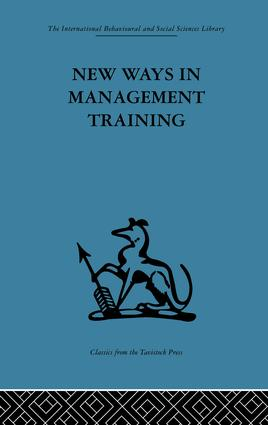 New Ways in Management Training: A technical college develops its services to industry, 1st Edition (Paperback) book cover