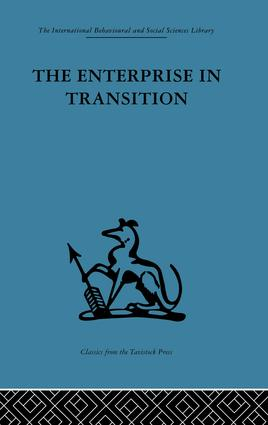 The Enterprise in Transition: An analysis of European and American practice, 1st Edition (Paperback) book cover