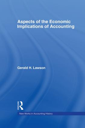 Aspects of the Economic Implications of Accounting (Hardback) book cover
