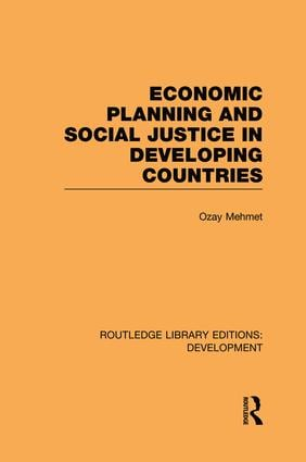Economic Planning and Social Justice in Developing Countries (Paperback) book cover