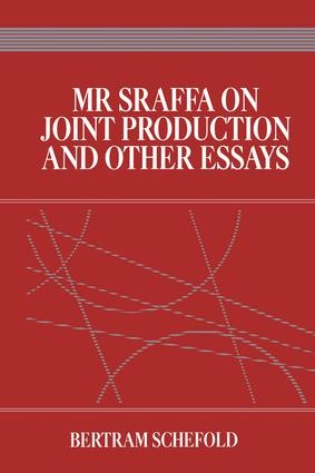 Mr Sraffa on Joint Production and Other Essays: 1st Edition (Paperback) book cover
