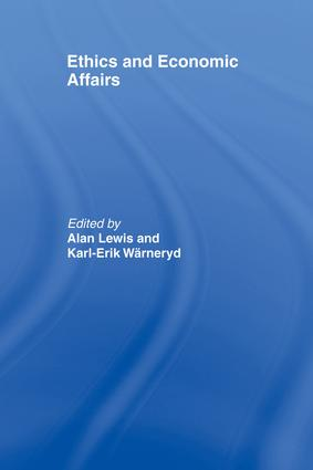 Ethics and Economic Affairs: 1st Edition (Paperback) book cover