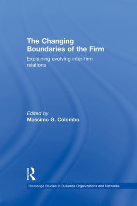 The Changing Boundaries of the Firm: Explaining Evolving Inter-firm Relations, 1st Edition (Paperback) book cover