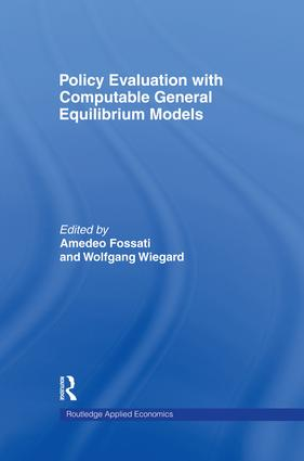 Policy Evaluation with Computable General Equilibrium Models (Hardback) book cover