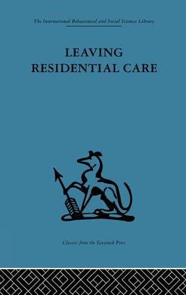 Leaving Residential Care (e-Book) book cover