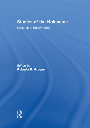 Studies of the Holocaust: Lessons in Survivorship, 1st Edition (Paperback) book cover