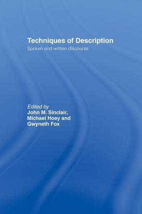 Techniques of Description: Spoken and Written Discourse, 1st Edition (Paperback) book cover