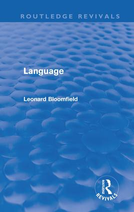Language (Routledge Revivals): 1st Edition (Paperback) book cover
