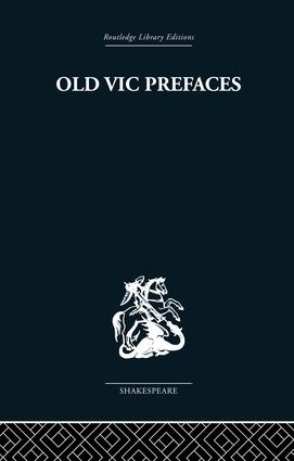 Old Vic Prefaces: Shakespeare and the Producer book cover