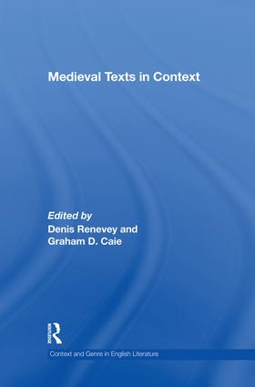 Medieval Texts in Context: 1st Edition (Paperback) book cover