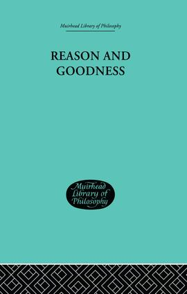 Reason and Goodness: 1st Edition (Paperback) book cover