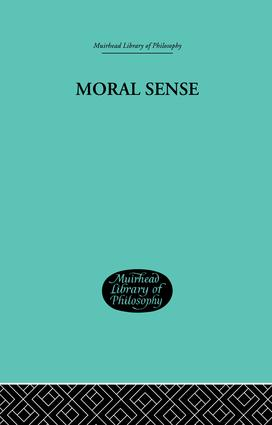 Moral Sense: 1st Edition (Paperback) book cover