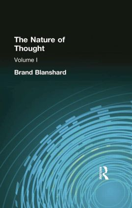 The Nature of Thought: Volume I, 1st Edition (Paperback) book cover