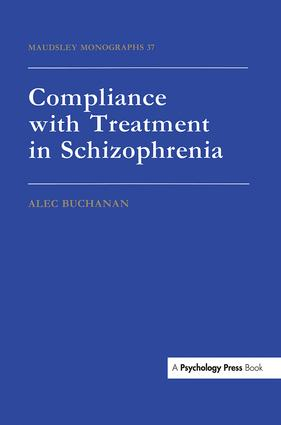 Compliance With Treatment In Schizophrenia: 1st Edition (e-Book) book cover