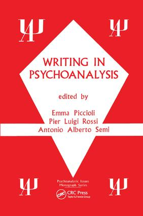 Writing in Psychoanalysis book cover