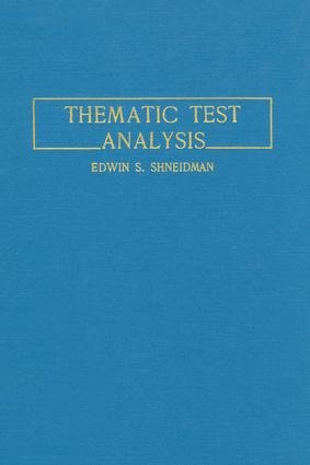 Thematic Test Analysis: 1st Edition (Paperback) book cover