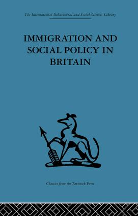 Immigration and Social Policy in Britain: 1st Edition (Paperback) book cover