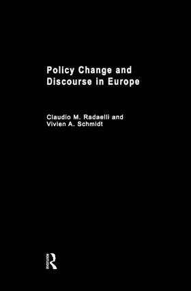 Policy Change & Discourse in Europe: 1st Edition (Paperback) book cover