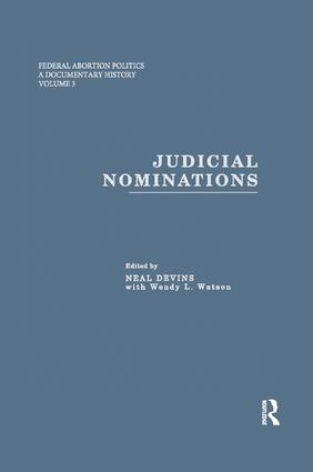 Judicial Nominations book cover